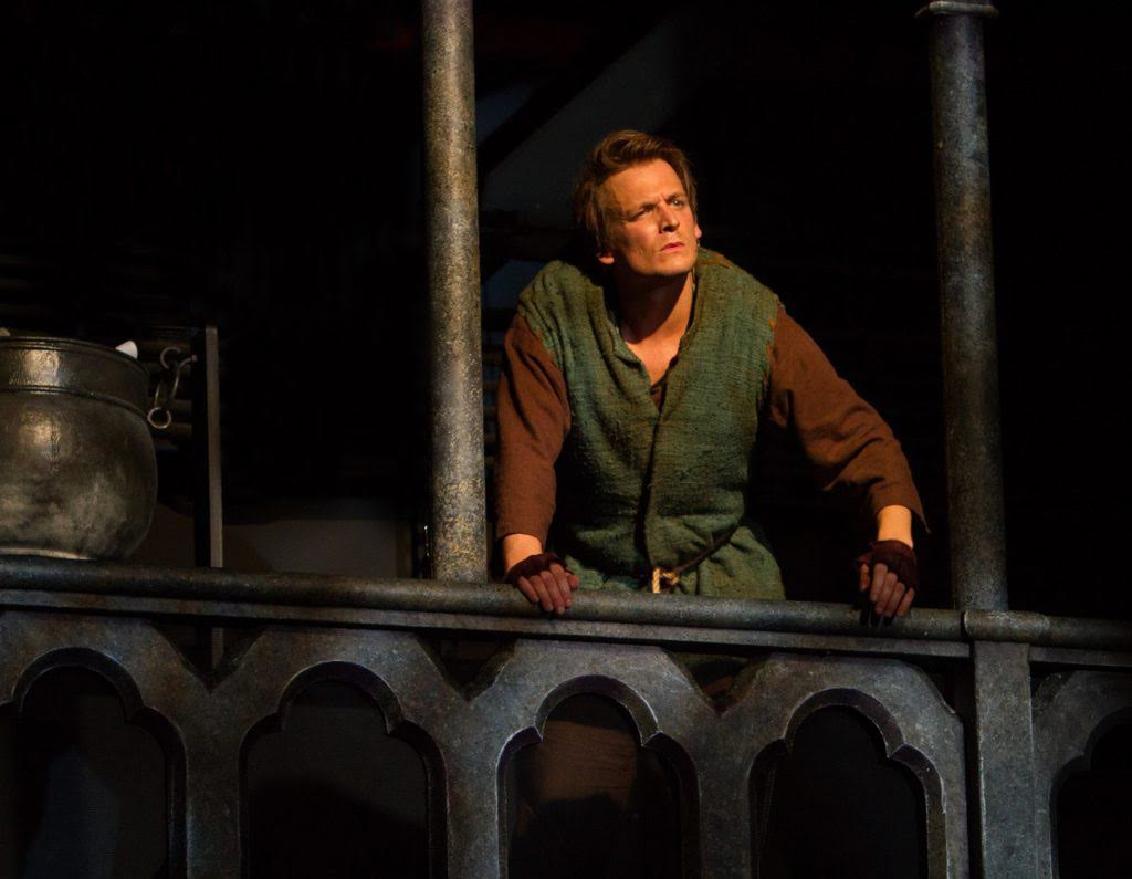 """Actor John McGinty stars as Quasimodo in the musical production of Disney's """"The Hunchback of Notre Dame."""""""