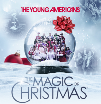 Young Americans Magic of Christmas show with snow globe